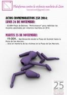 Plataforma contra la violencia machista de León