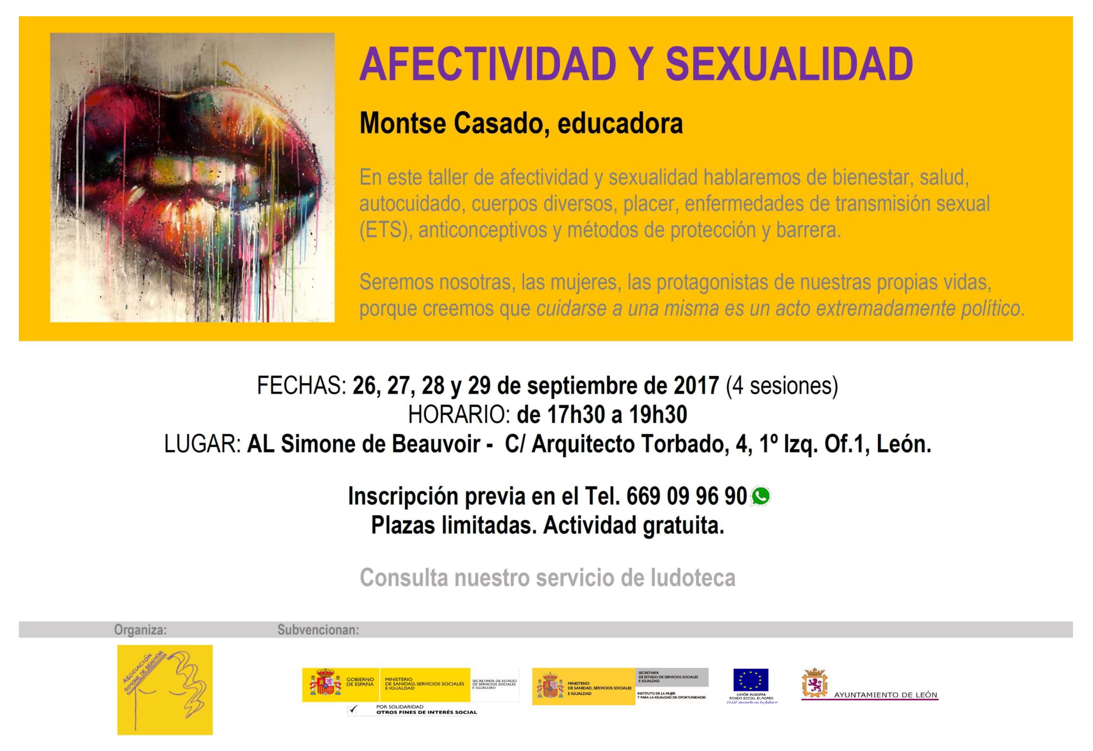 cartel afectividad sexualidad