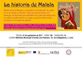 cartel taller infantil Malala